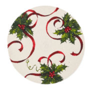 Holiday Round Ribbon Set of 4 Placemats