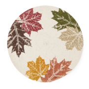 Harvest Round Leaf Set of 4 Placemats