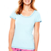 Sleep Chic Short-Sleeve Cotton Sleep Tee
