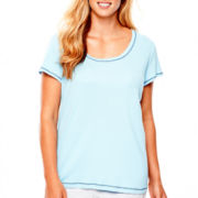 Sleep Chic Short-Sleeve Cotton Tee - Plus