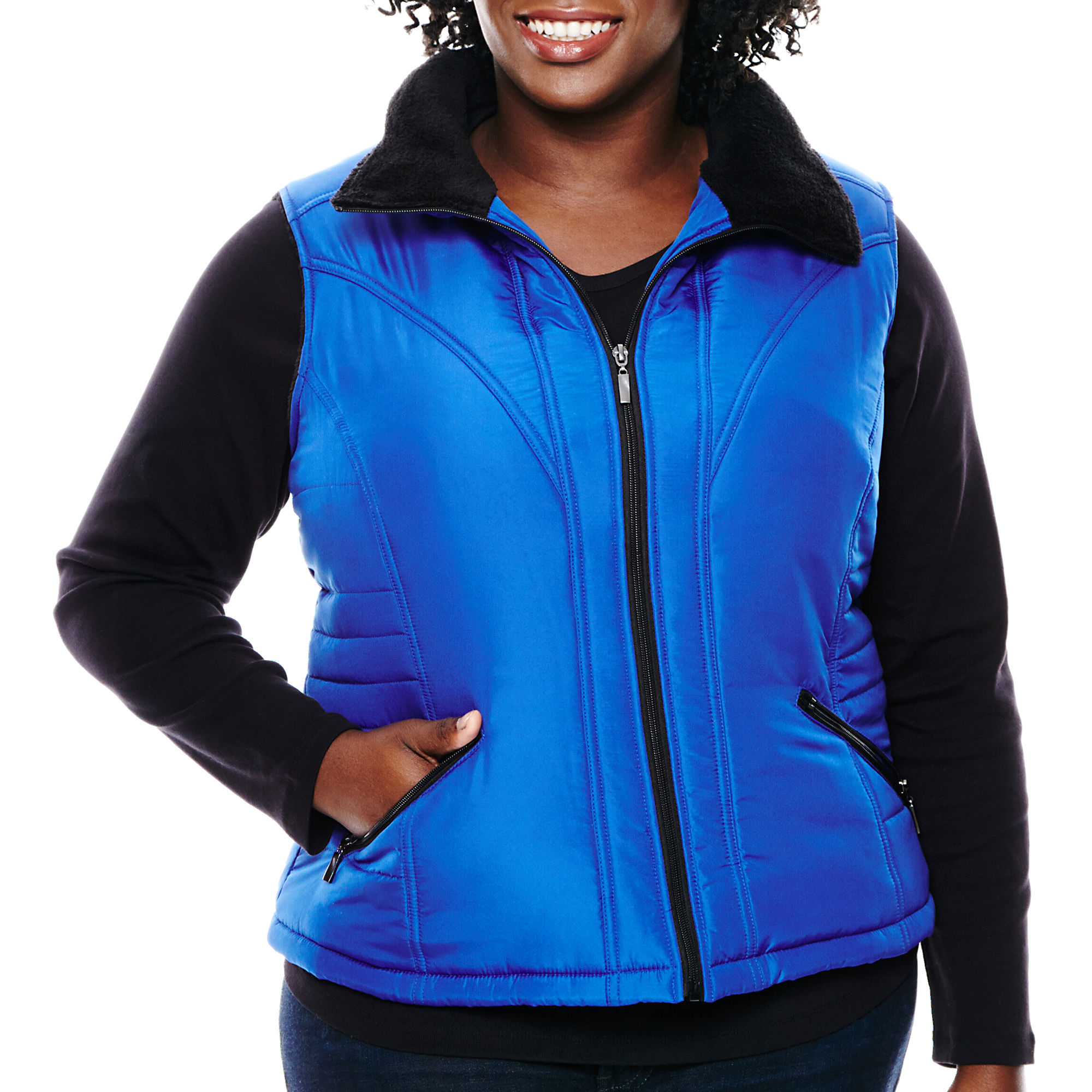 KC Collections Polar Fleece Vest - Plus