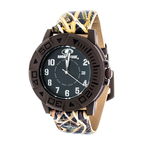 Mossy Oak Mens Brown Bracelet Watch-Mow027br