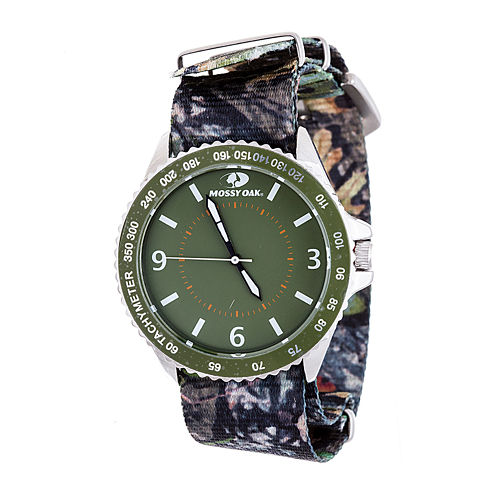 Mossy Oak Mens Green Bracelet Watch-Mow086-Gr