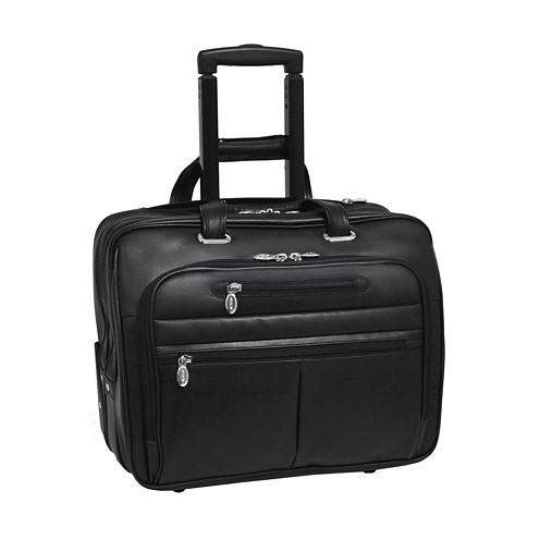 "McKleinUSA Wrightwood 17"" Leather Wheeled Laptop Briefcase"