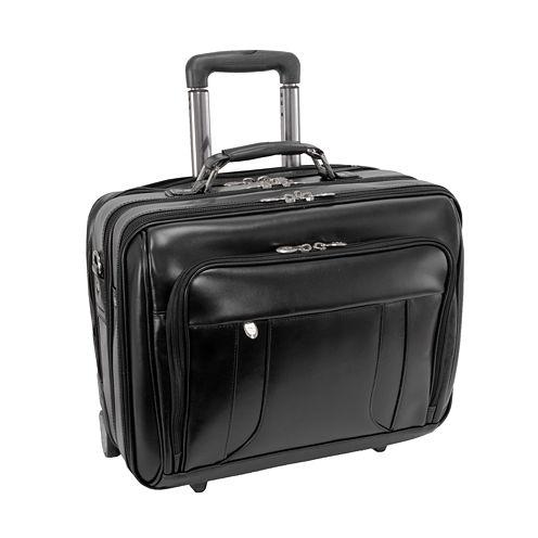 "McKleinUSA Lasalle 15.6"" Leather Wheeled Laptop Overnight w/ Removable Briefcase"