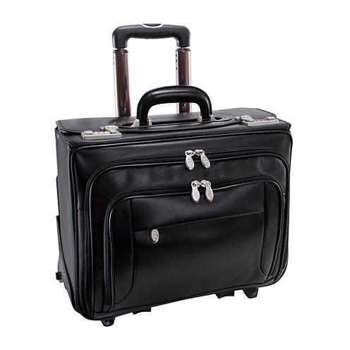 "McKleinUSA Sheridan 15.4"" Leather Detachable -Wheeled Catalog Briefcase"