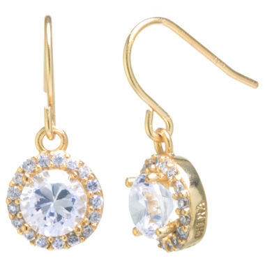 jcpenney.com | Silver Treasures Round White Cubic Zirconia Gold Over Silver Stud Earrings