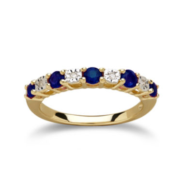 jcpenney.com | Genuine Blue Sapphire Diamond-Accent 10K Yellow Gold Ring