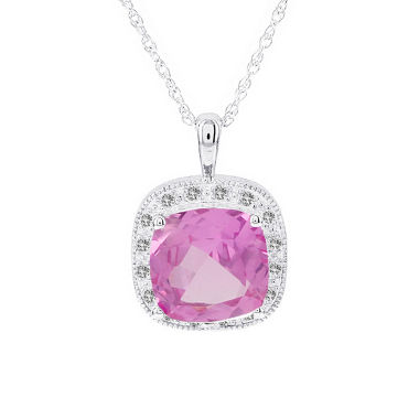 jcpenney.com | Womens 1/6 CT. T.W. Pink Sapphire 14K Gold Pendant Necklace