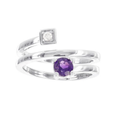 jcpenney.com | Sterling Silver  Diamond ACCENT and Genuine Amethyst Spiral Ring