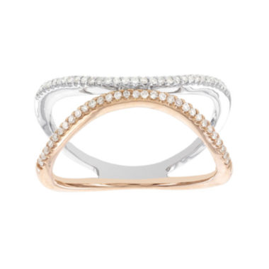 jcpenney.com | Womens 1/5 CT. T.W. White Diamond 14K Gold Cocktail Ring