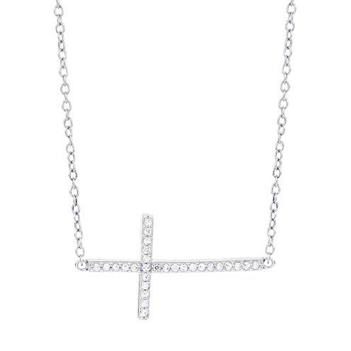 1/7 CT. T.W. White Diamond 14K Statement Necklace