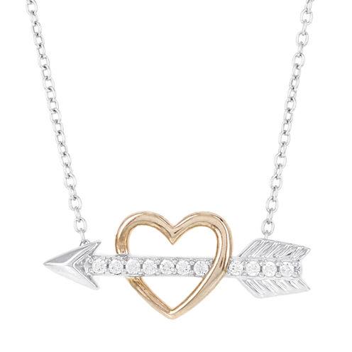 1/10 CT. T.W. White Diamond 14K Statement Necklace