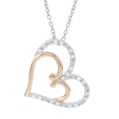 jcpenney.com | Womens 1/10 CT. T.W. White Diamond 14K Gold Pendant Necklace