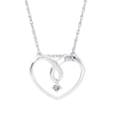 jcpenney.com | Womens Diamond Accent White Diamond 14K Gold Pendant Necklace