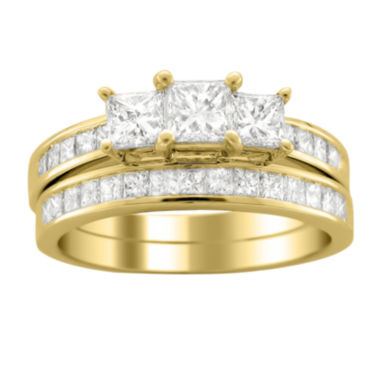 jcpenney.com | Womens 2 CT. T.W. White Diamond 14K Gold Bridal Set