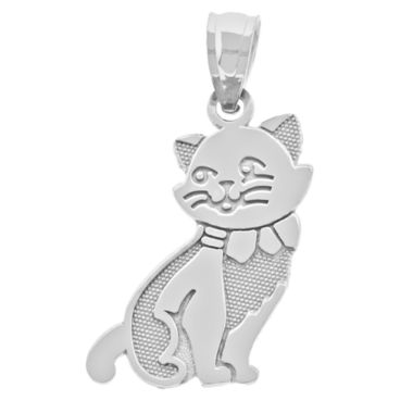 jcpenney.com | Sterling SIlver Cat Charm Pendant