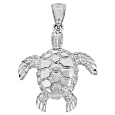 jcpenney.com | Sterling Silver Diamond-Cut Turtle Charm Pendant