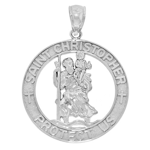 Sterling Silver Saint Christopher Medal Charm Pendant