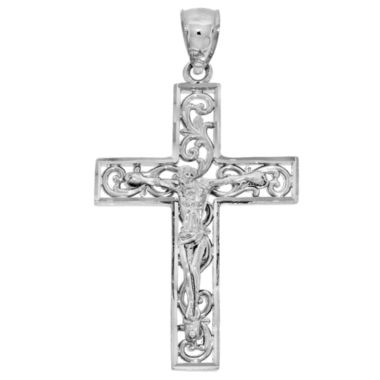 jcpenney.com | Sterling SIlver Diamond-Cut Crucifix Charm Pendant