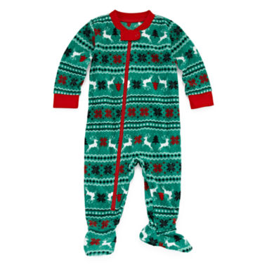 jcpenney.com | North Pole Trading Co Family Pajamas Unisex Long Sleeve One Piece Pajama-Baby