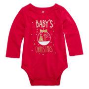Okie Dokie® Long-Sleeve Graphic Bodysuit - Baby Girls newborn-24m