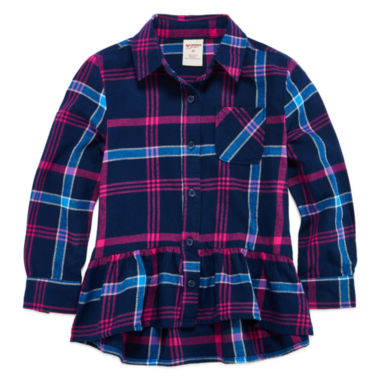 jcpenney.com | Arizona Girls Long Sleeve Button-Front Shirt