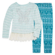 Knit Works Long Sleeve Layered Top - Big Kid