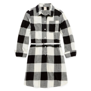 jcpenney.com | Arizona Long Sleeve Shirt Dress - Big Kid