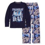 Arizona Boys Long Sleeve Kids Pajama Set-Big Kid
