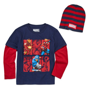 jcpenney.com | Avengers Graphic T-Shirt with Beanie - Preschool 4-7X