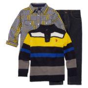 U.S. Polo Assn.®  3-pc. Knit and Woven Shirt Set - Preschool Boys 4-7
