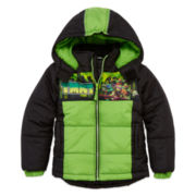Boys Teenage Mutant Ninja Turtles Heavyweight Puffer Jacket-Preschool