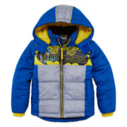 Boys Batman Heavyweight Puffer Jacket-Preschool
