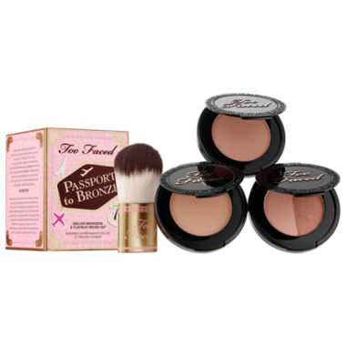 jcpenney.com | Too Faced Passport To Bronze Deluxe Bronzer & Flatbuki Brush Set