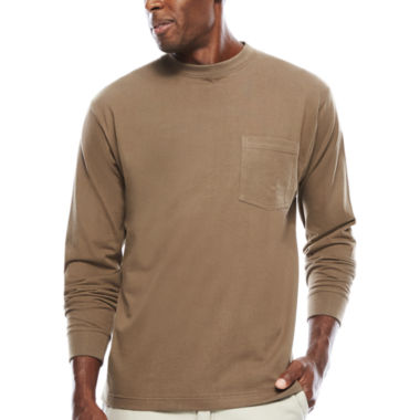 jcpenney.com | Smith'S Workwear Pocket Crew Neck Tee With Gusset Long Sleeve