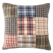 Home Expressions Loden Plaid Square Decorative Pillow