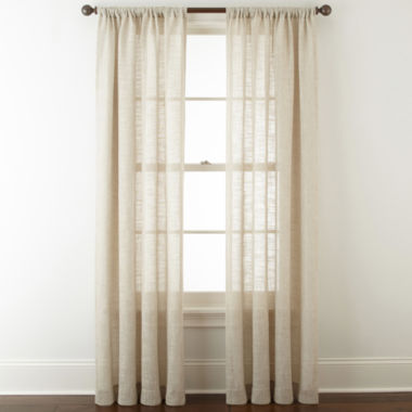 jcpenney.com | JCPenney Home Sydney Rod-Pocket Curtain Panel