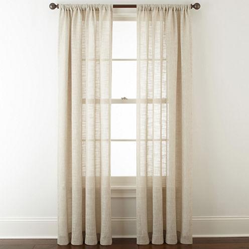 JCPenney Home Sydney Rod-Pocket Curtain Panel