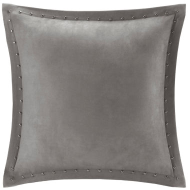 jcpenney.com | Madison Park Reiss Stud Trim Microsuede Square Feather Pillow