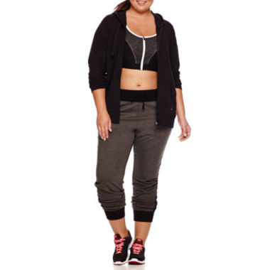 jcpenney.com | Xersion™ Long-Sleeve Front-Zip Hoodie or Colorblock Bra - Plus