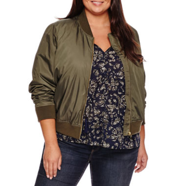 jcpenney.com | a.n.a® Bomber Jacket - Plus