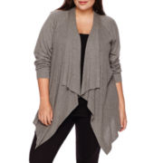 a.n.a® Long-Sleeve Basic Flyaway Cardigan - Plus