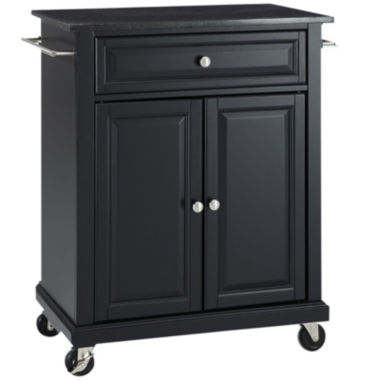 jcpenney.com | Wellman Black-Granite-Top Kitchen Cart