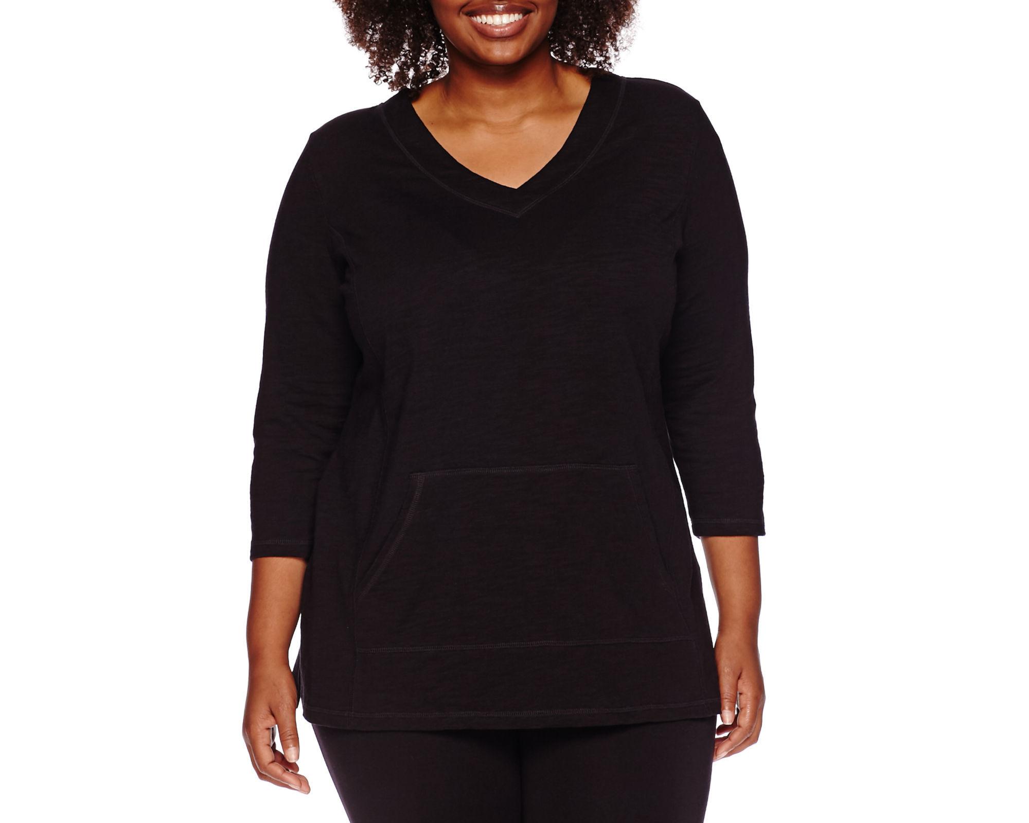 Liz Claiborne 3/4-Sleeve V-Neck Pullover Tunic - Plus