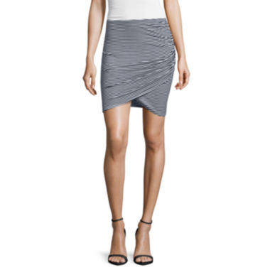 jcpenney.com | a.n.a® Short Shirred Wrap Skirt