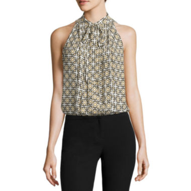 jcpenney.com | Worthington® Sleeveless Tie-Neck Blouse