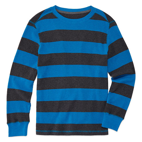 Arizona Long-Sleeve Striped Thermal - Boys 8-20 and Husky