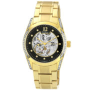 Armitron® Mens Gold-Tone Automatic Skeleton Watch
