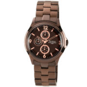 Armitron® Mens Brown-Dial Bronzetone Dress Watch
